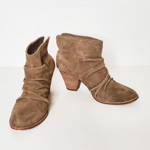 Splendid Rodeo Tan Suede Slouchy Booties Size 8